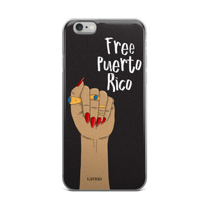 Free Puerto Rico iPhone 6/6s, 6/6s Plus Case in Black