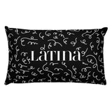 Afro Latina Black Rectangular Pillow
