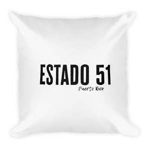 Estado 51 Puerto Rico Square Pillow