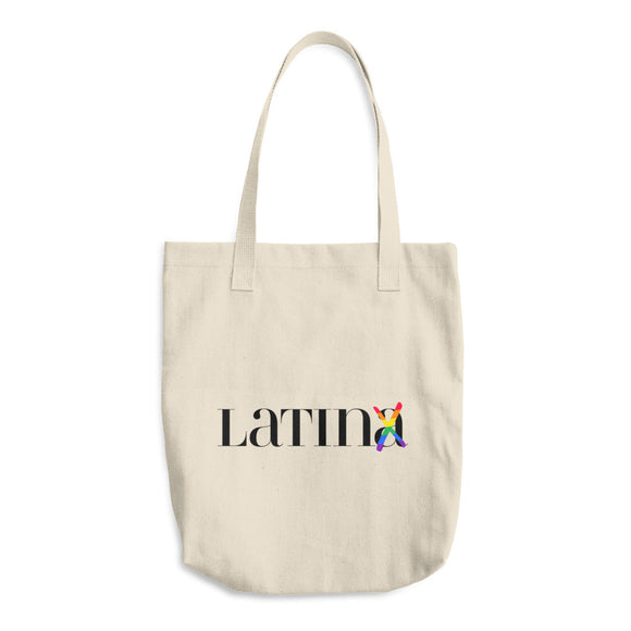 Latinx Pride Cotton Tote Bag