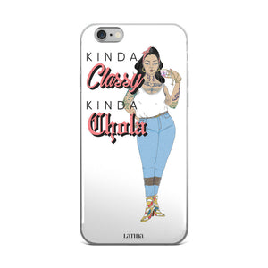 Kinda Classy Kinda Chola iPhone 6/6s, 6/6s Plus Case in White