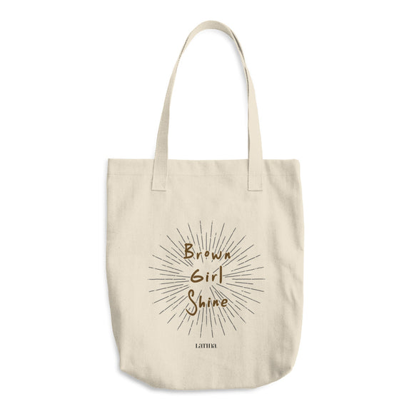 Brown Girl Shine Cotton Tote Bag