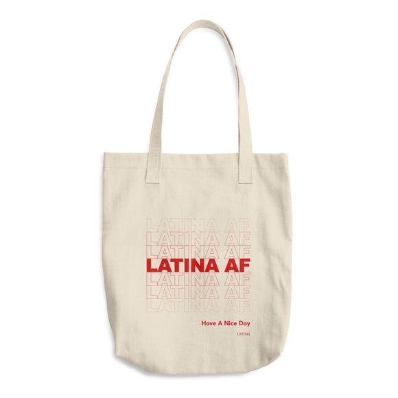 Latina AF Cotton Tote Bag