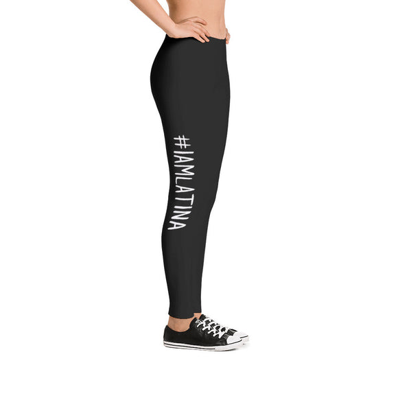 I Am Latina Leggings in Black