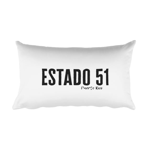 Estado 51 Puerto Rico Rectangular Pillow