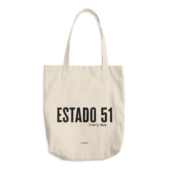 Estado 51 Puerto Rico Cotton Tote Bag