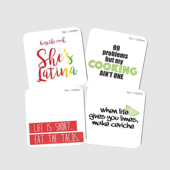 The Latin Kitchen Coasters 4-Pack