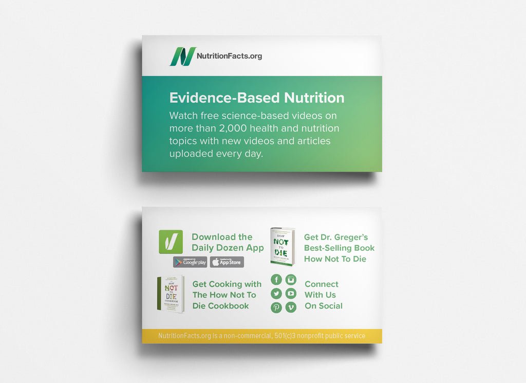 NutritionFacts.org Outreach Business Cards (US Shipping ONLY ...