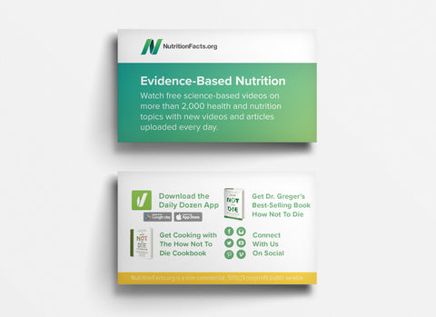 NutritionFacts.org Outreach Business Cards