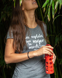 Women's Vegetables are the Best Medicine T-Shirt (En Español)