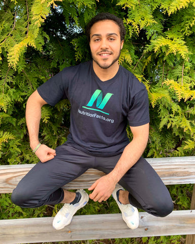 Unisex NutritionFacts.org Logo Sustainable T-Shirt