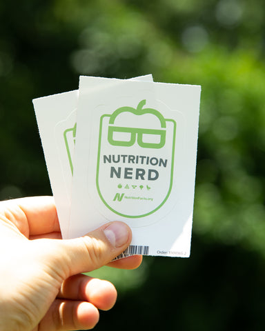 Nutrition Nerd Kiss Cut Sticker