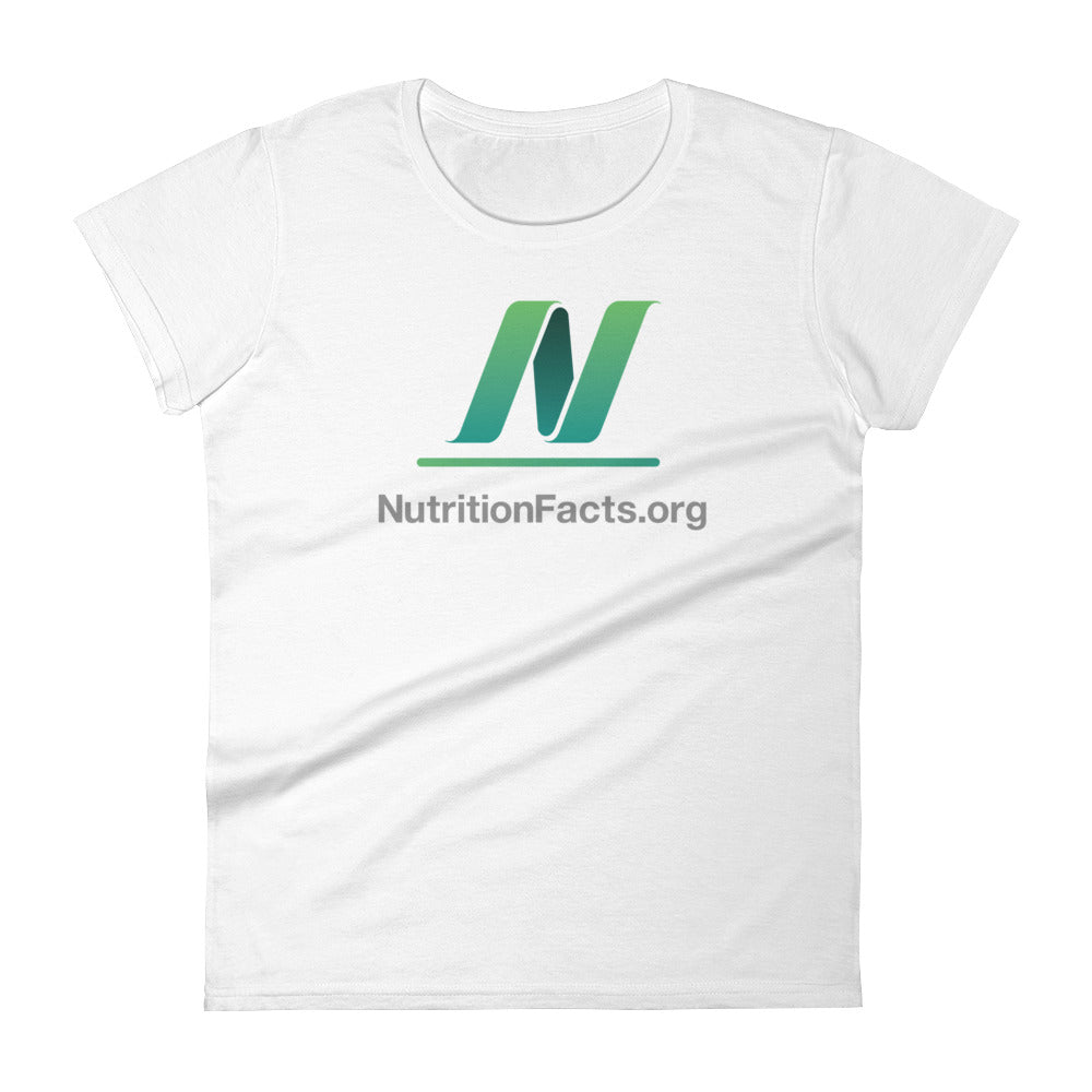 Ladies' NutritionFacts.org Logo T-Shirt