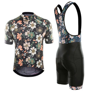 Flowers Cycling Jersey Set (Short Sleeve)