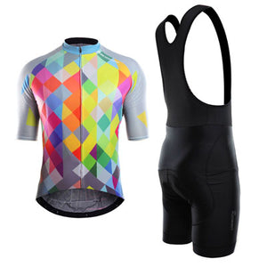 Diamond Rainbow Cycling Jersey Set (Short Sleeve)