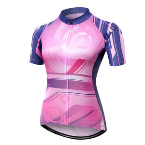 Digital Pink Cycling Jersey (Women's Short Sleeve)