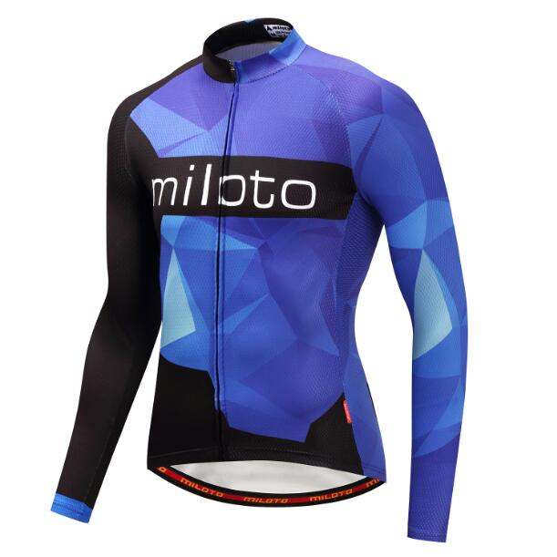 Deep Blue Long Sleeve Cycling Jersey