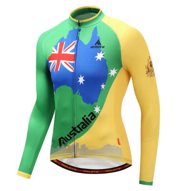 Australia Long Sleeve Cycling Jersey