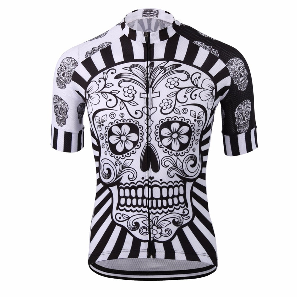 White Skull Cycling Jersey (Short Sleeve)