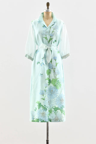 1970s Alfred Shaheen Maxi Dress