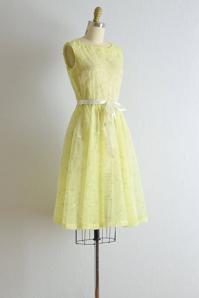 Vintage 1950s Limoncello Sheer Dress - Pickled Vintage