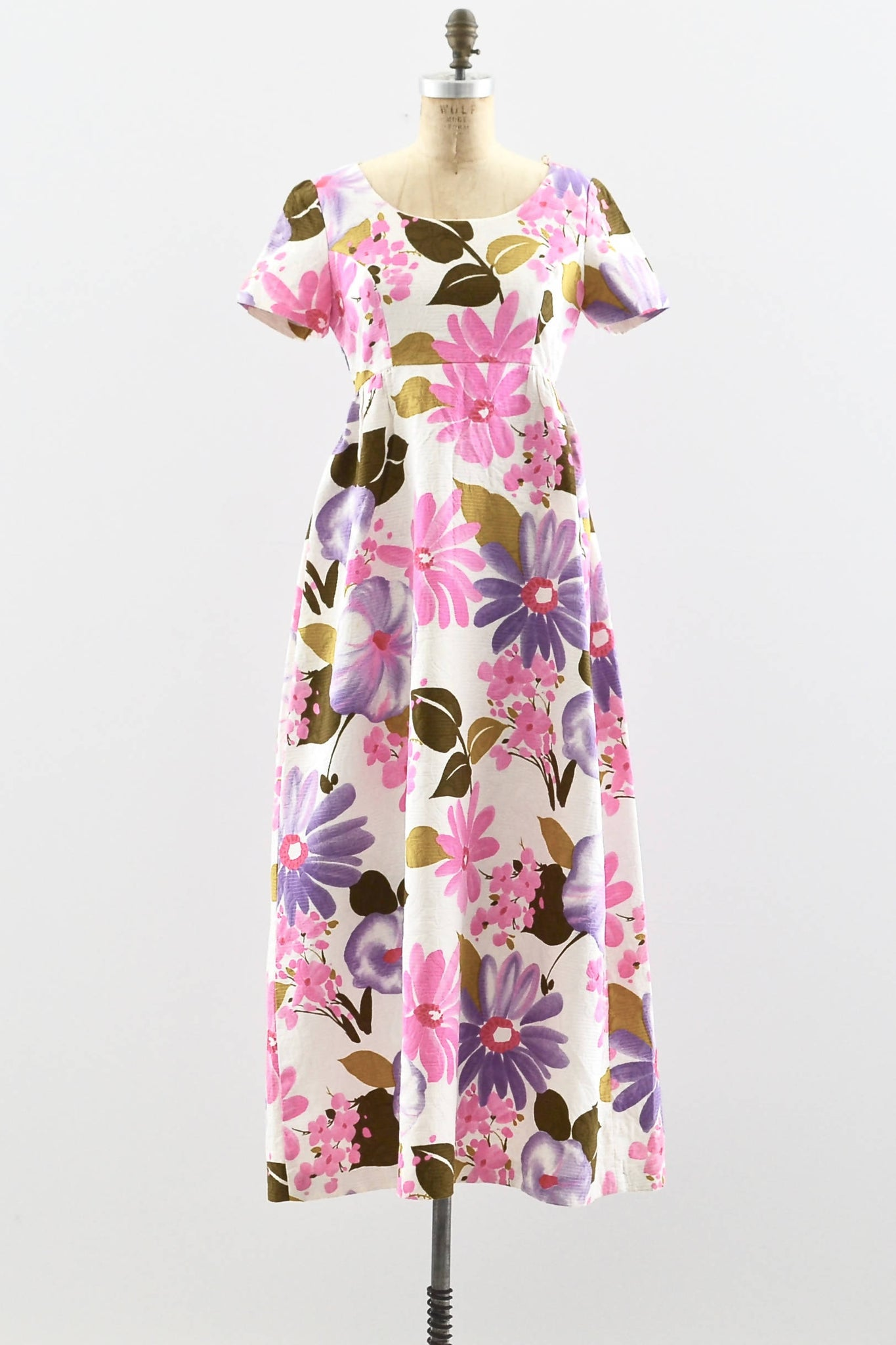 1960s Floral Maxi Dress - Pickled Vintage