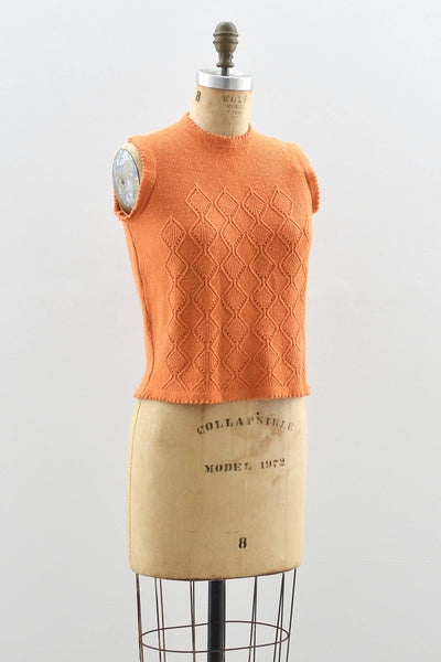 1960's Orange Sweater Top - Pickled Vintage