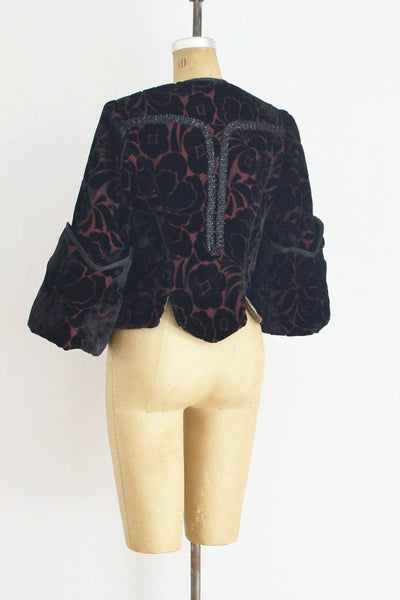 Beaded Wide Cuff  Bolero Jacket - Pickled Vintage