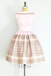 1950s Pink Squaw Dress - Pickled Vintage