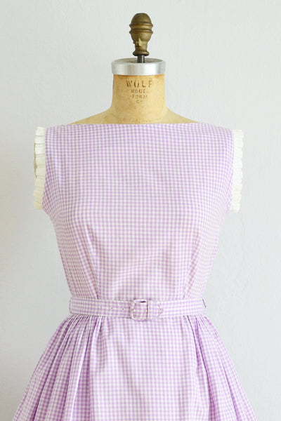 Lilac Gingham Dress - Pickled Vintage