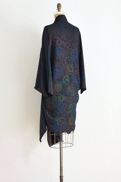 Button Front Silk Kimono - Pickled Vintage