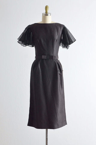 Vintage 1950s Organza Sleeves Wiggle Dress - Pickled Vintage
