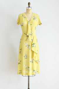 40s Yellow Dress - Pickled Vintage