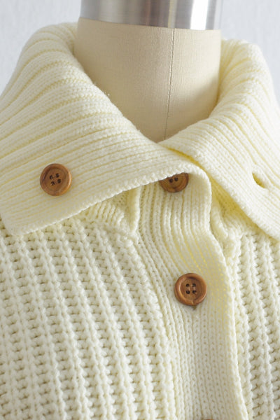 Vintage 1970s Button Neck Sweater - Pickled Vintage
