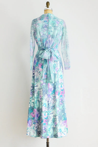 Watercolor Maxi Dress - Pickled Vintage