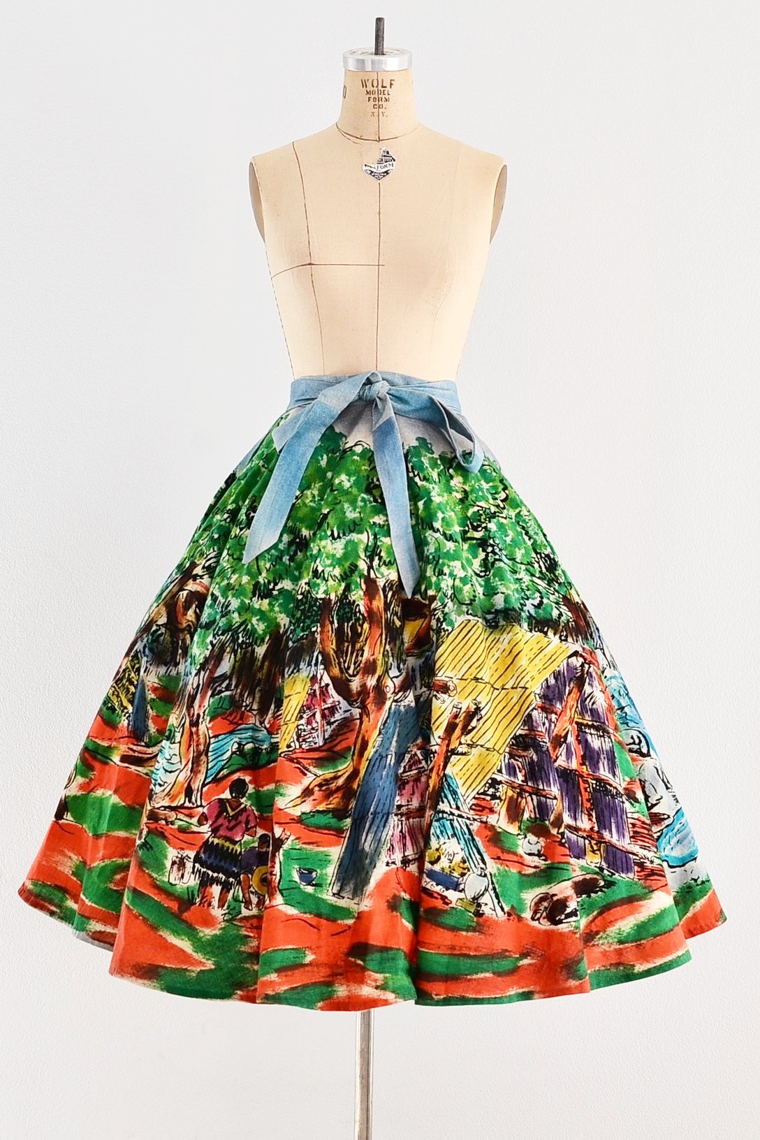 1950s Mexican Skirt - Pickled Vintage