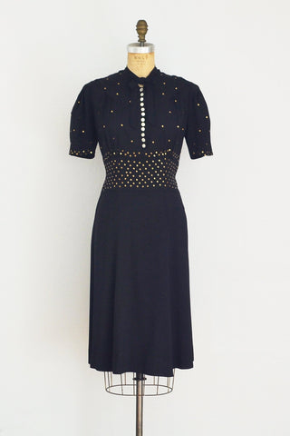 40s Studded Dress - Pickled Vintage