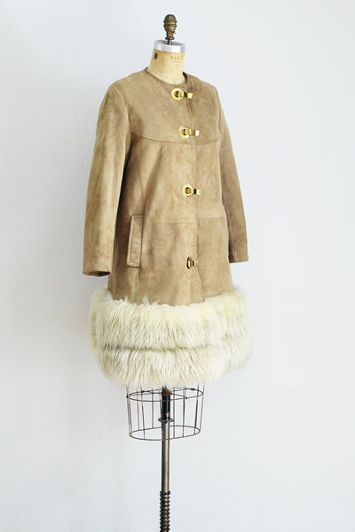 Sheepskin Suede Coat - Pickled Vintage