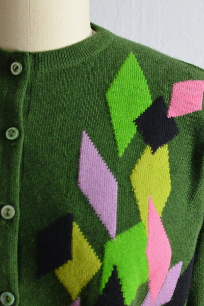 Vintage Harlequin Ballantyne Cardigan - Pickled Vintage