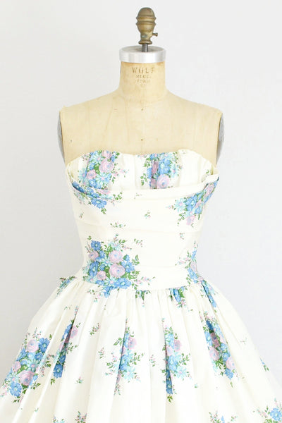1950s Betty Draper Strapless Dress - Pickled Vintage