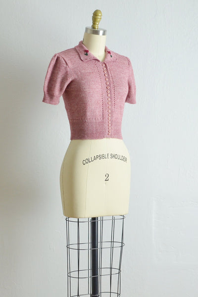 Vintage 1970s Cropped Arpeja Sweater - Pickled Vintage
