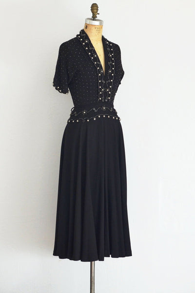 Beaded 40s Dress - Pickled Vintage