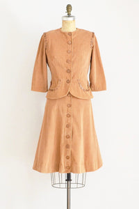 1940s Corduroy Dress Set - Pickled Vintage