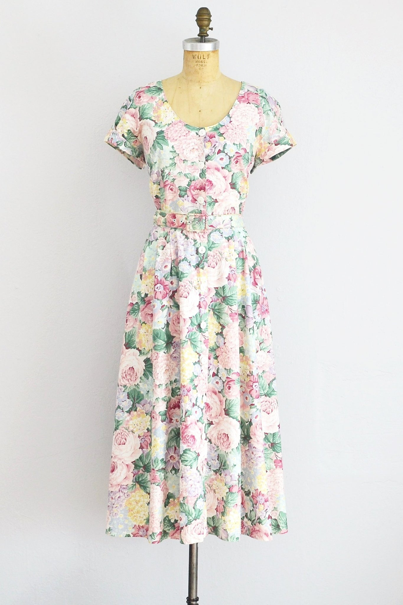 Crisscross Floral Dress - Pickled Vintage