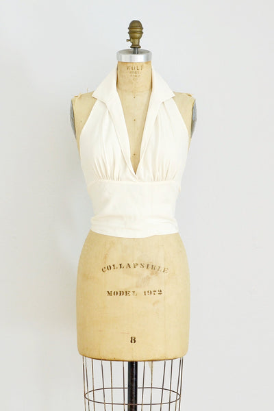 Halston Halter Top - Pickled Vintage