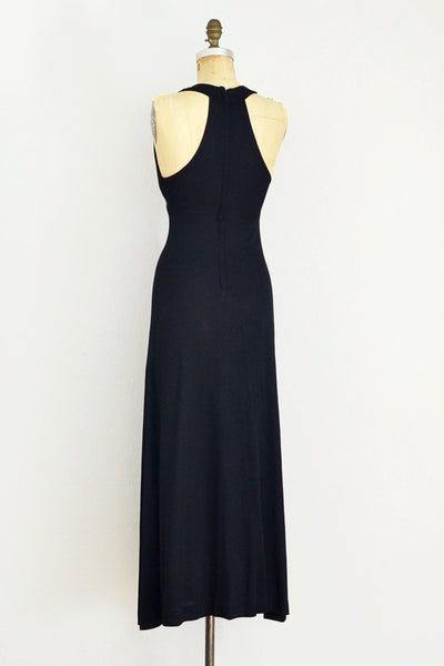 70s Sultry Racerback Dress - Pickled Vintage