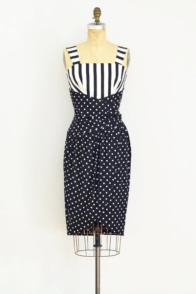 Black and White Wiggle Dress - Pickled Vintage