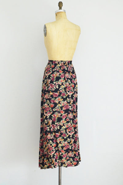 Button Front Midi Skirt - Pickled Vintage