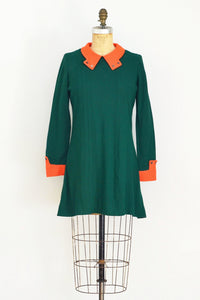 1960s Green Skater Dress - Pickled Vintage
