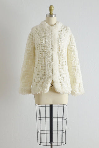 Vintage 1970s Basket Weave Cardigan - Pickled Vintage